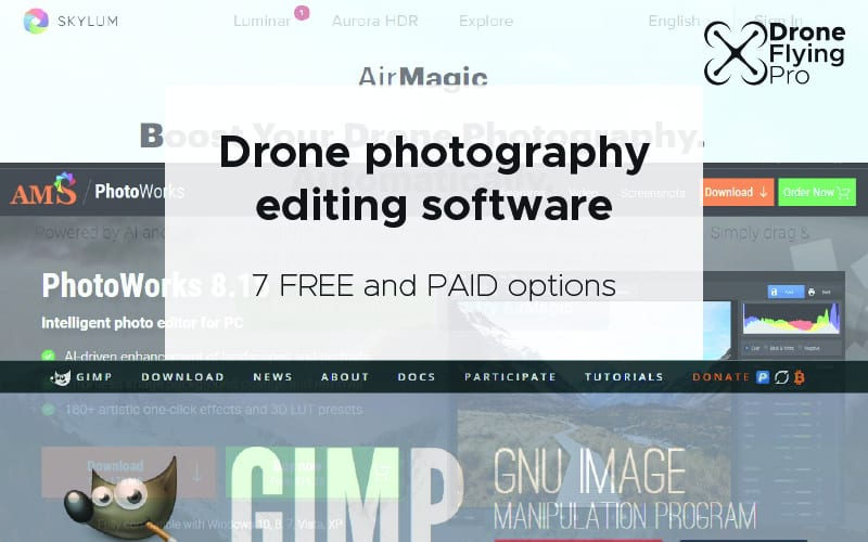 Drone photography editing software - header